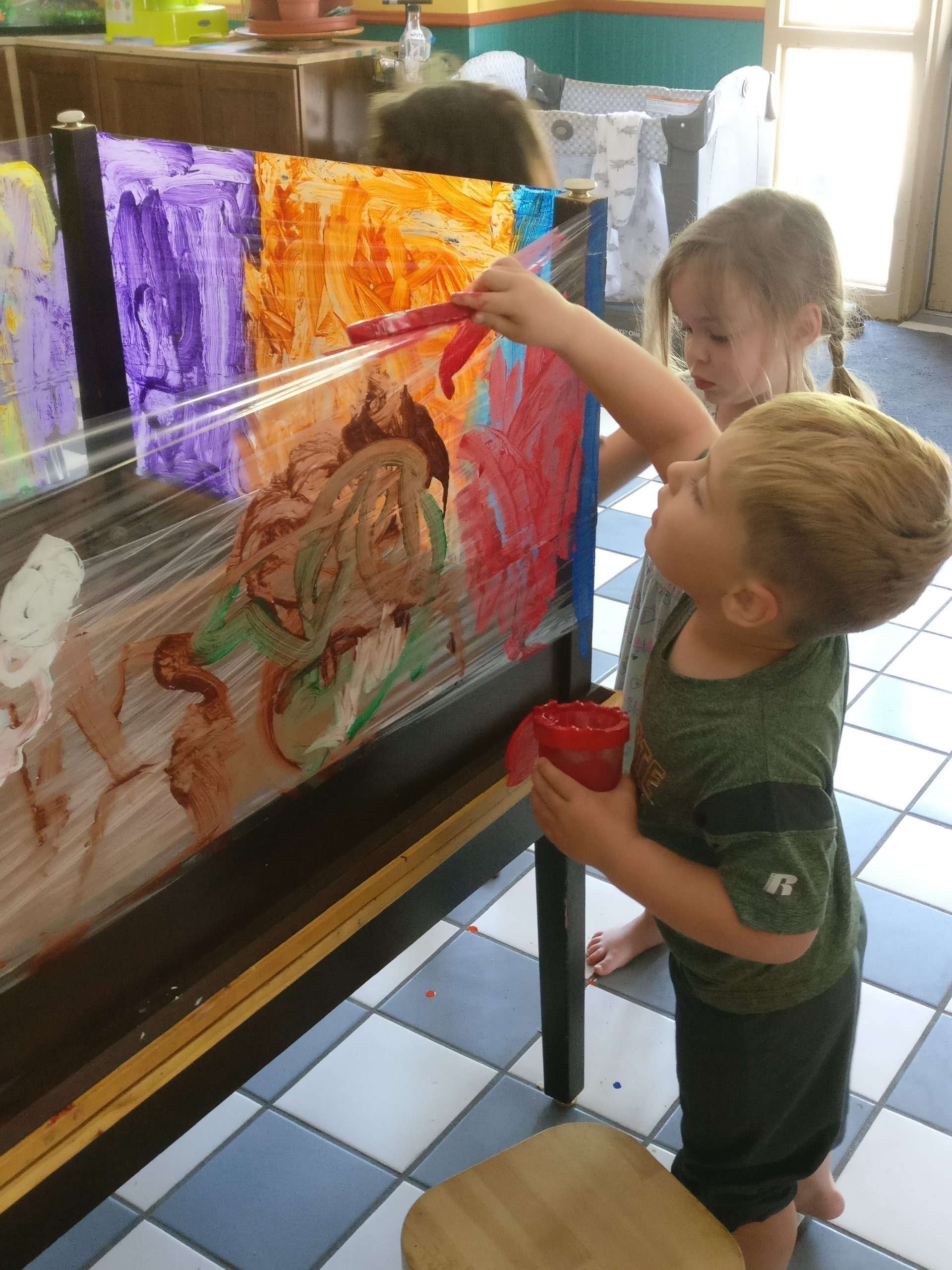 Kids Painting at Wild About Play